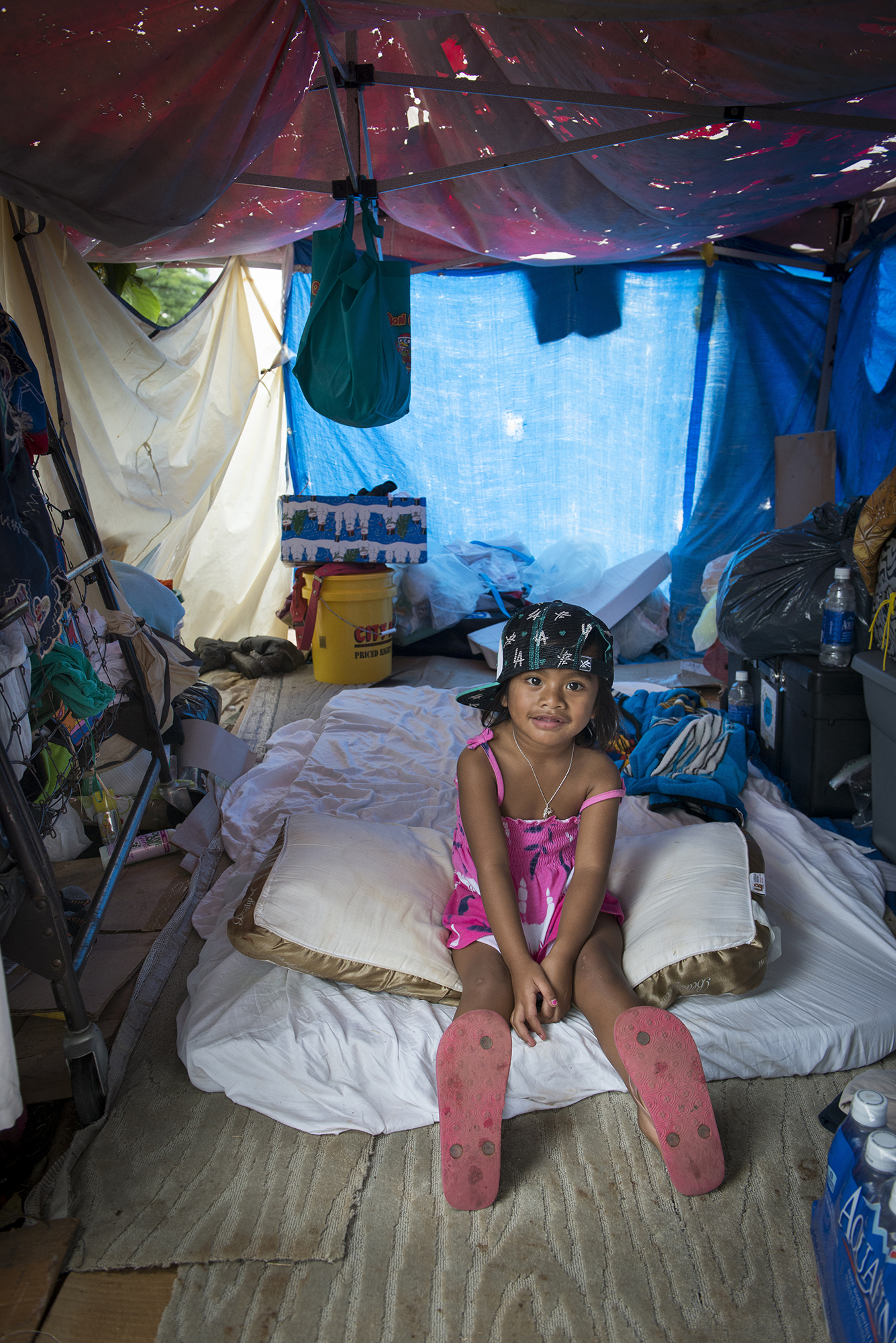 <p>Emichan and her family are among the hundreds of Micronesian immigrants who have ended up homeless in Hawaii.</p>