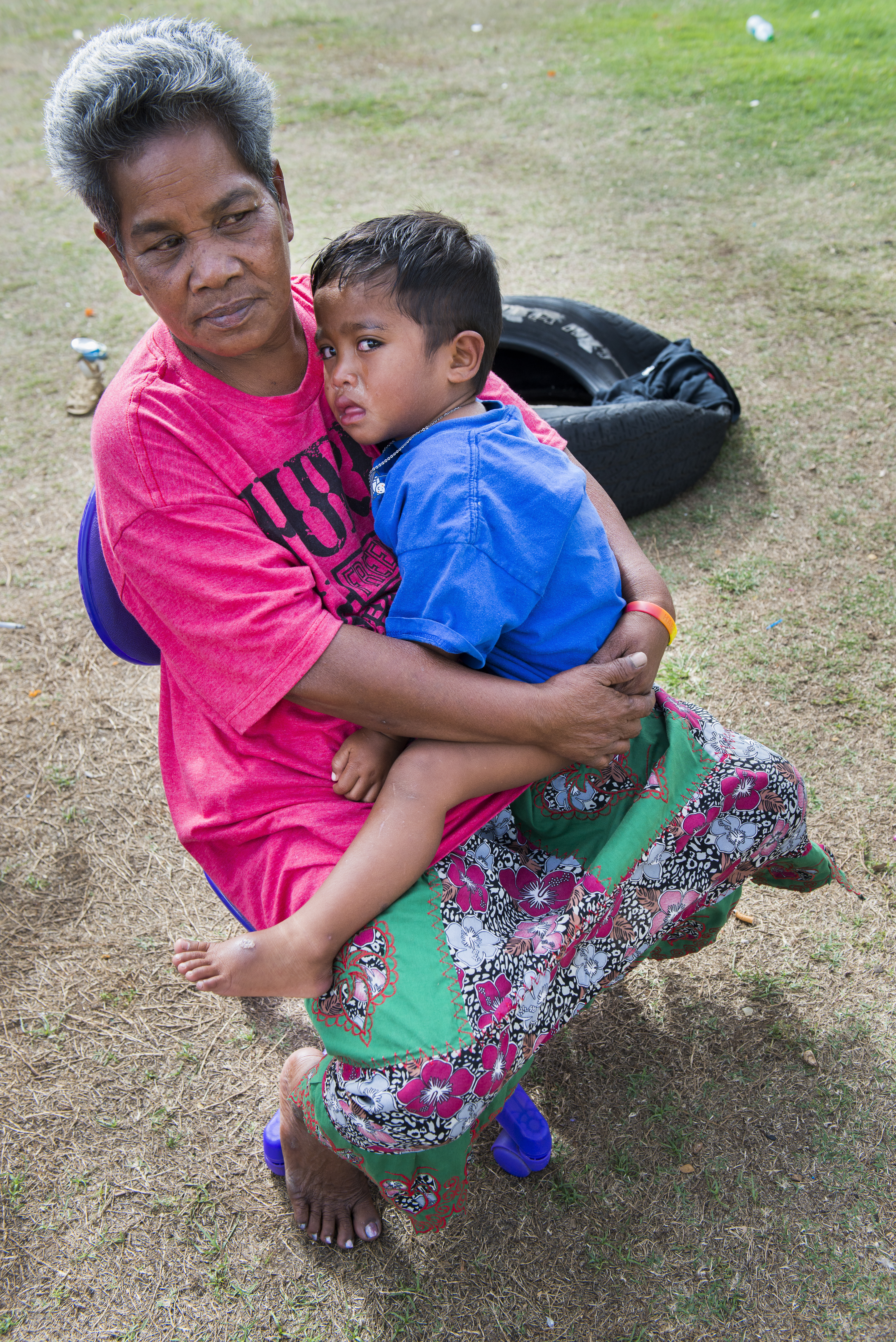 <p>Members of this Chuukese family were living onthe streets inKakaako. Officials estimated that at least 20 percent of the homeless populations in the camps near downtown Honolulu were Micronesian.</p>