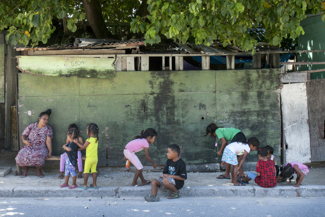 Much of the population of Ebeye in the Marshalls is under 18 years of age, and the island is largely impoverished.