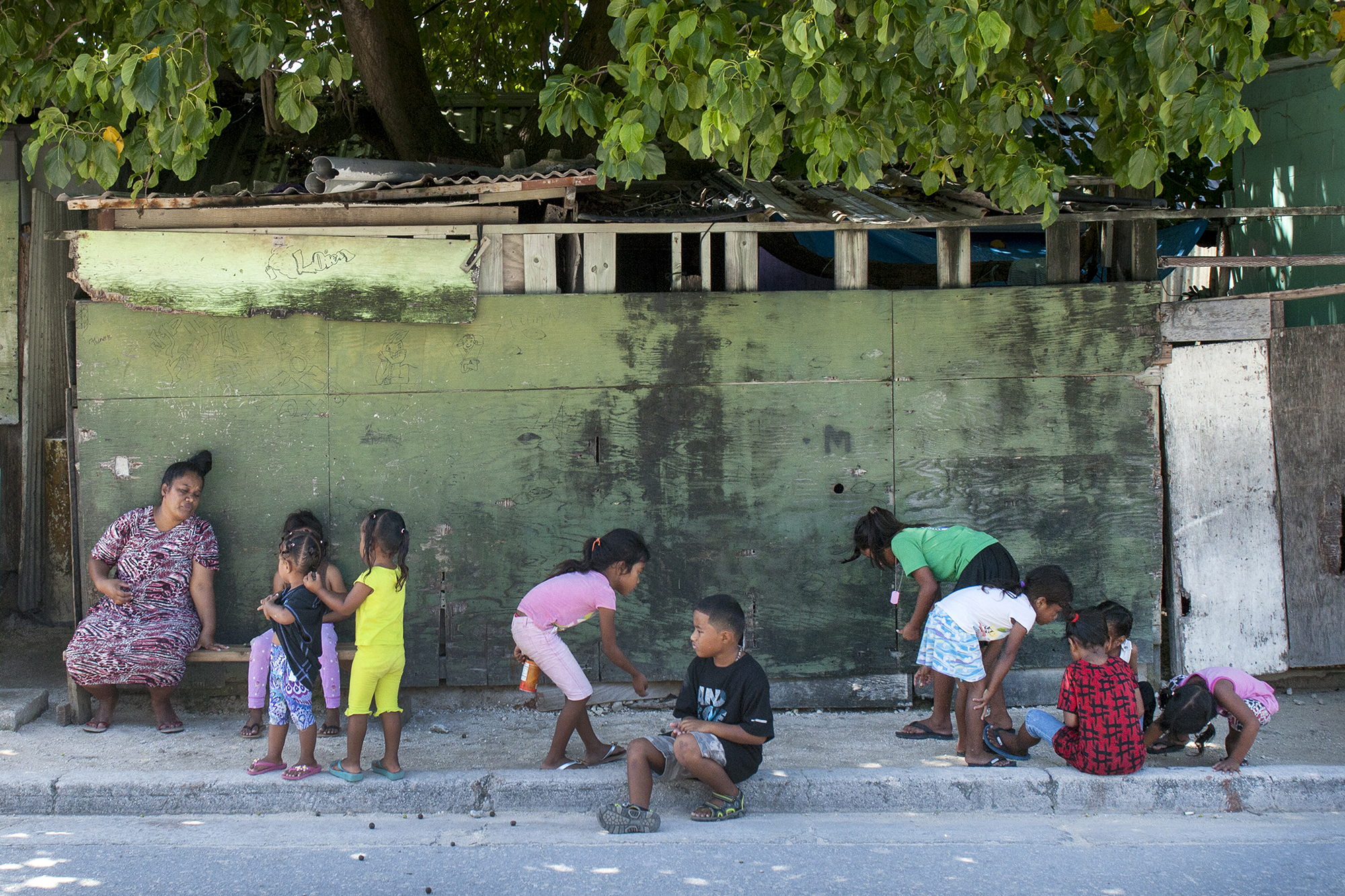 <p>Much of the population of Ebeye is under 18 years of age, and there are few employment opportunities</p>