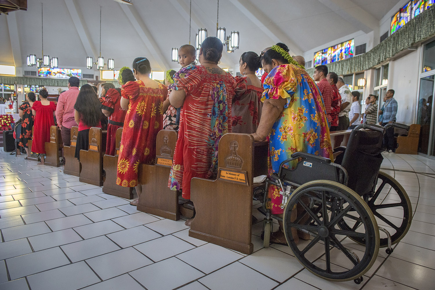 <p>It's estimated that asmany as 20,000 Micronesians now call Guam home. Someattend services at theParish of Santa Barbara in Dededo.</p>