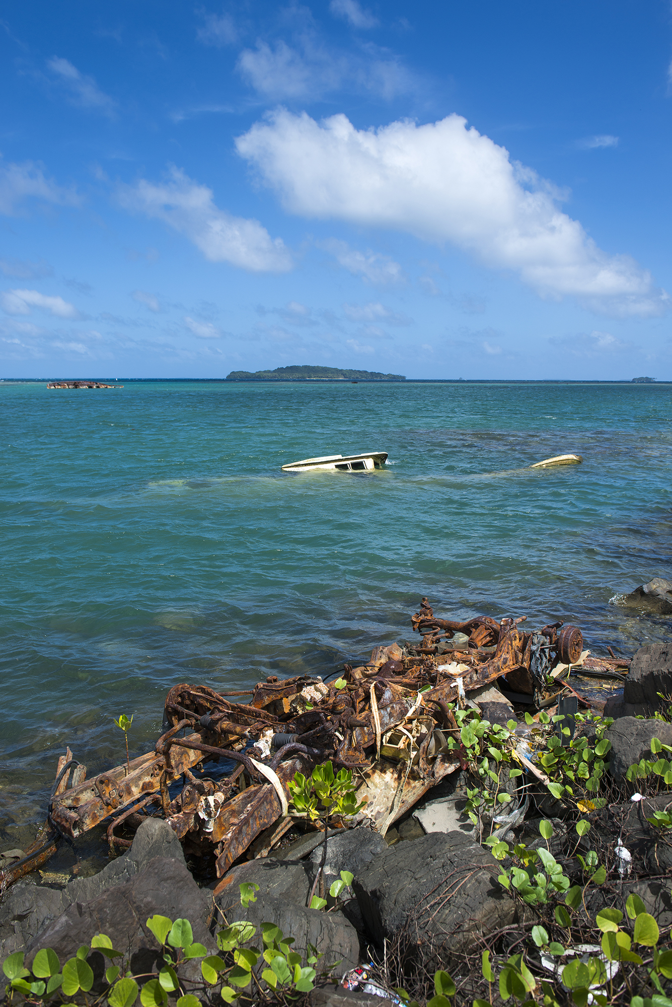 "<p>Sunken vessels are a common sight in Chuuk Lagoon, considered the ""wreck-diving capital of the world"" — but for World War II relics, not this abandoned hauler.</p>"