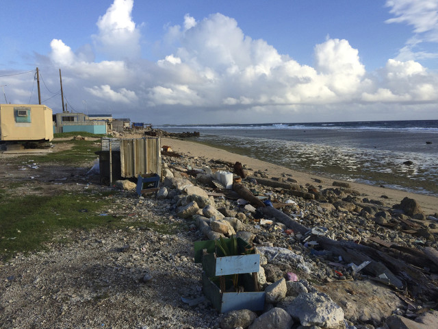 Poverty is widespread in the Marshall Islands, as seen on Ebeye.