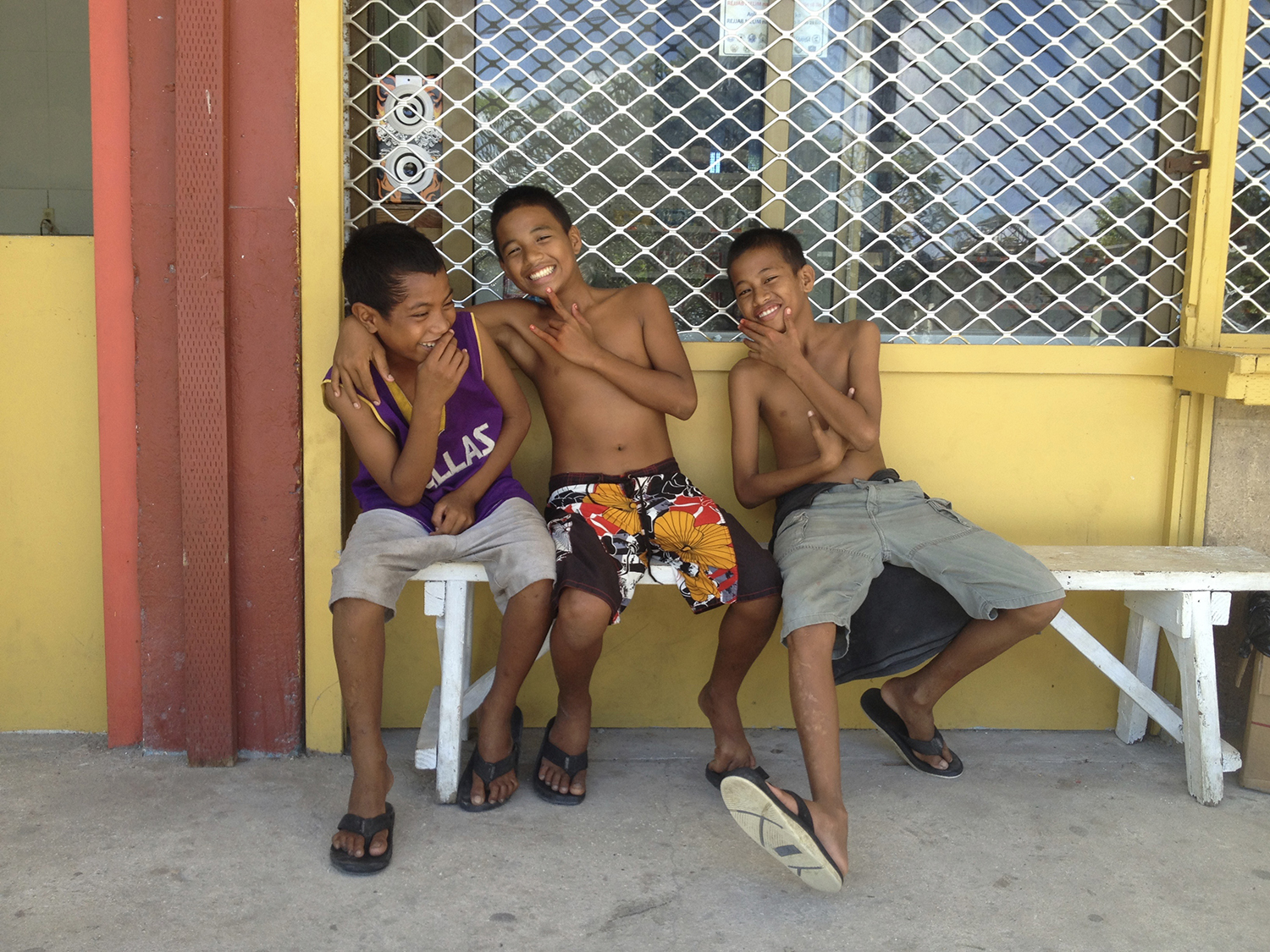 <p>The smiles of Marshallese kids come easily, once they become comfortable with strangers.</p>