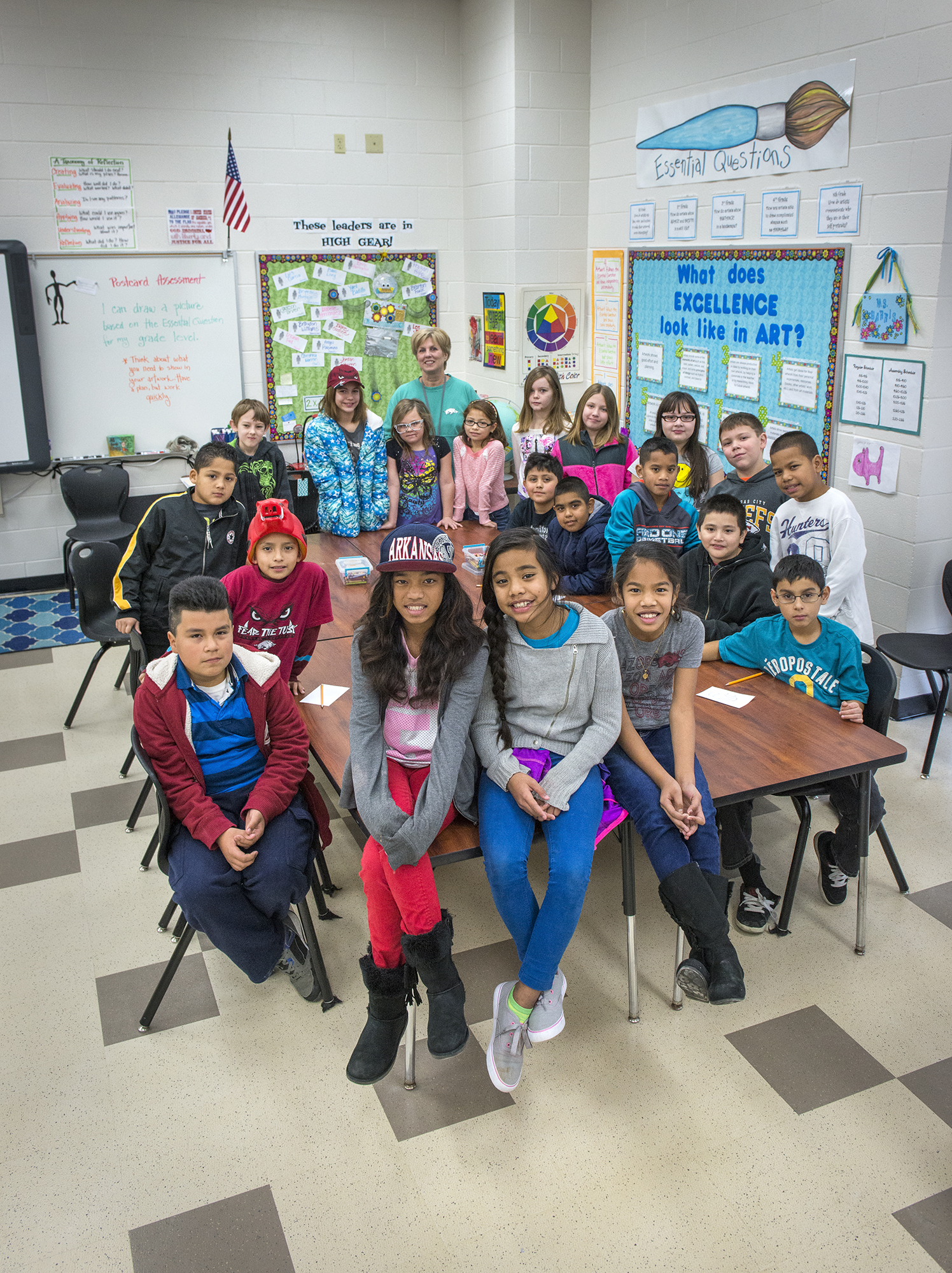 "<p>Another Springdale classroom. ""It doesn't really matter whether a child comes from across the street or across the ocean,"" says the local superintendent. ""Once they get to our door, they are our children.""</p>"