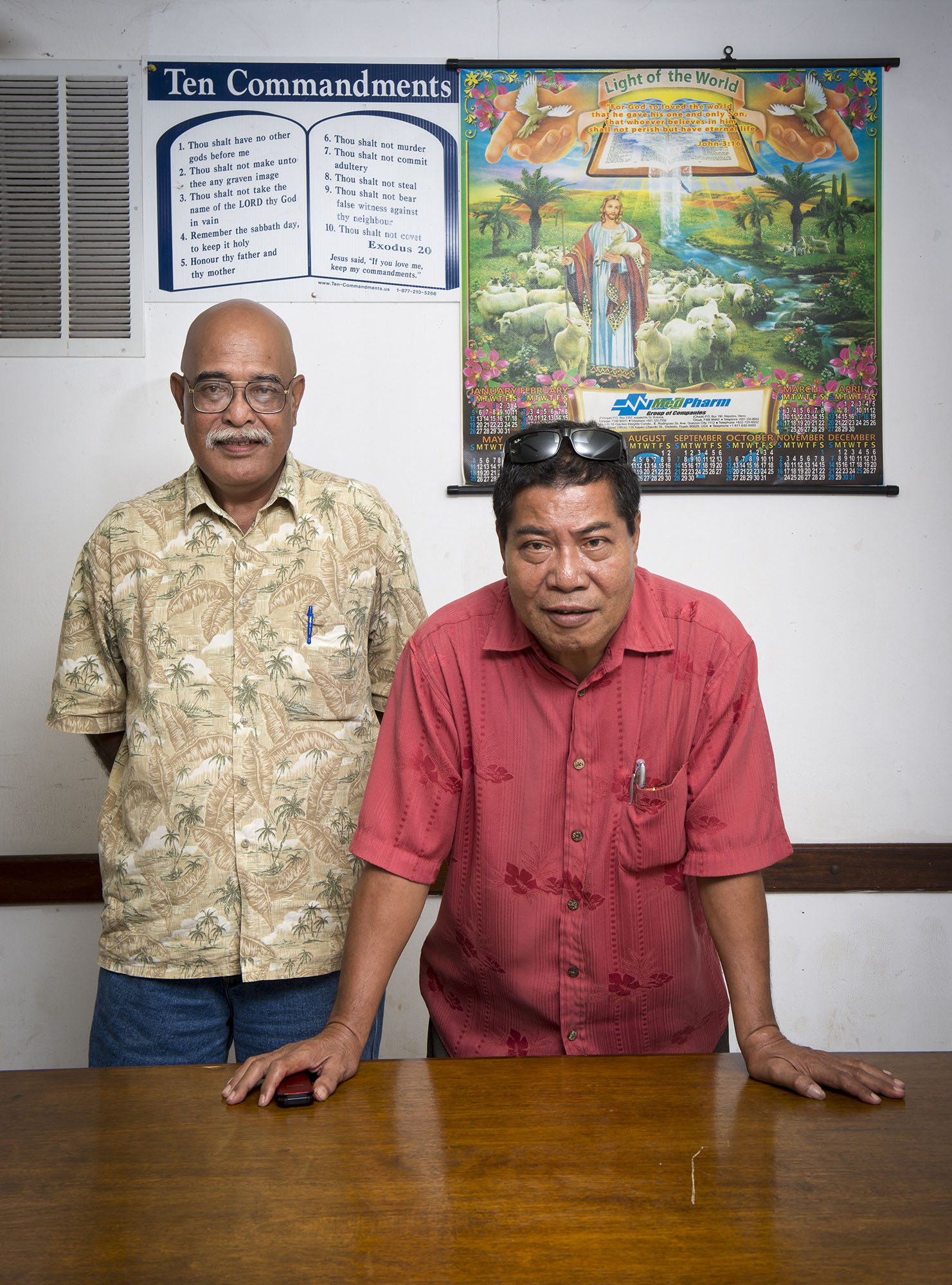 <p>Wilfred Robert, chief of staff for Chuuk's governor, and Sisinio Willy, special consultant to the governor for the Office of Development Assistance, are looking to East Asia for development interests.</p>