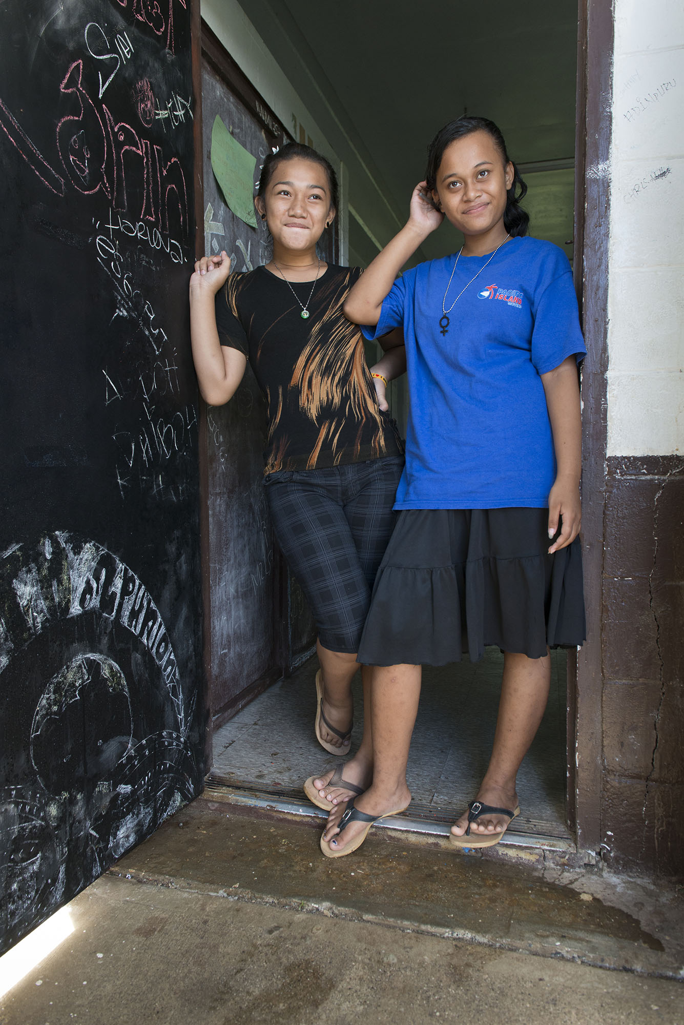 <p>With the United States as a common destination, learning English is a priority for many students in Chuuk.</p>