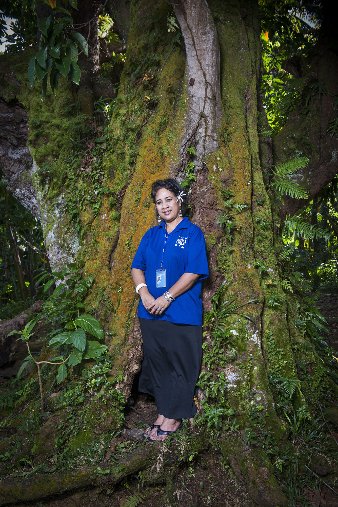 <p>Emeliana Musasrik isthe Migrant Resource Center coordinator for Micronesia. The centers help islanders who want to move to the U.S. understandhow to navigate ina foreign culture.</p>