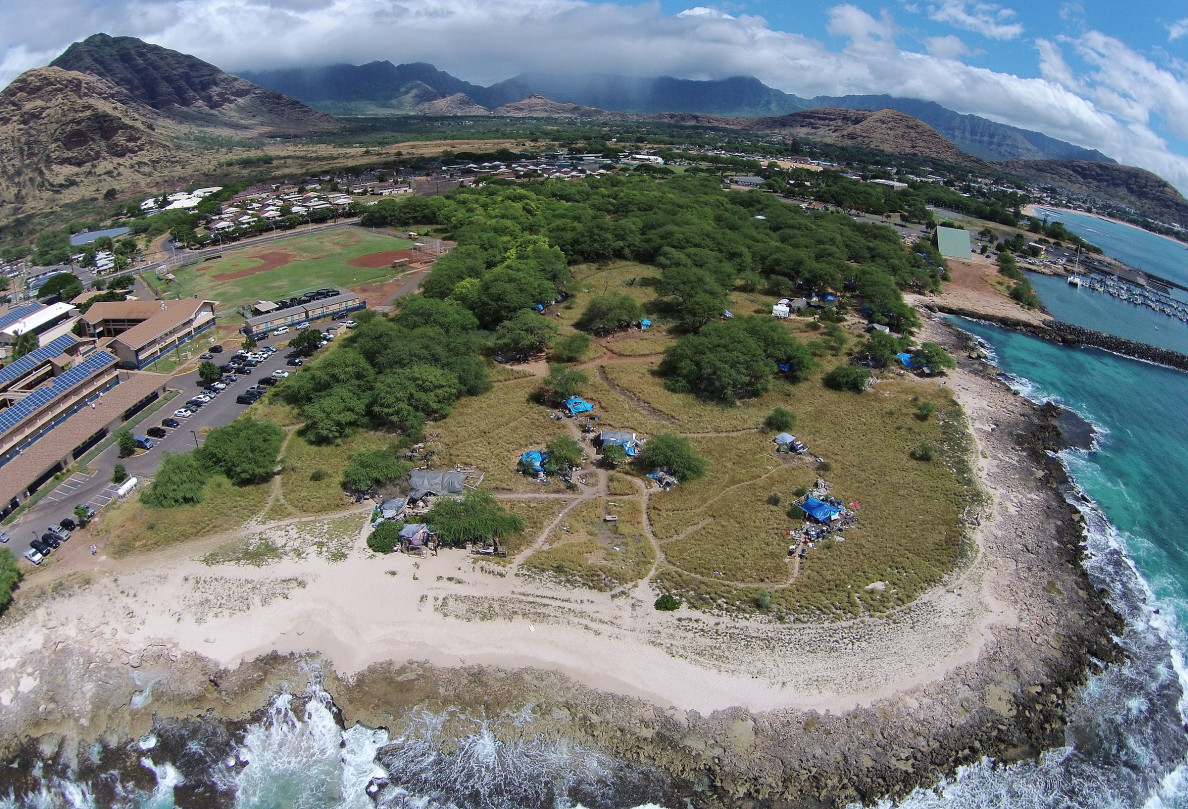The Harbor is sandwiched between the Waianae Boat Harbor and Waianae High School.