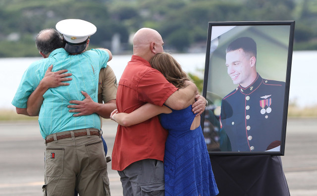 Family and friends of Lance Corporal Ty L. Hart from Aumsville, Oregon were among those attending memorial services held at Marine Corps Base Hawaii.  Hart  and 11 other marines died in a helicopter accident off Haleiwa, Oahu.