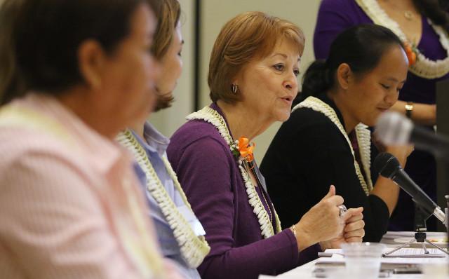 Sen. Roz Baker at a legislative forum at the YWCA on Richards Street Jan. 28.