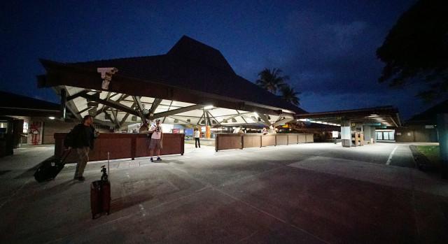 Kailua Kona airport baggage claim area