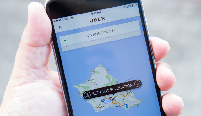 Uber Application in Hawaii
