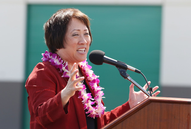 HART Chair Colleen Hanabusa speaks. 2 may 2016