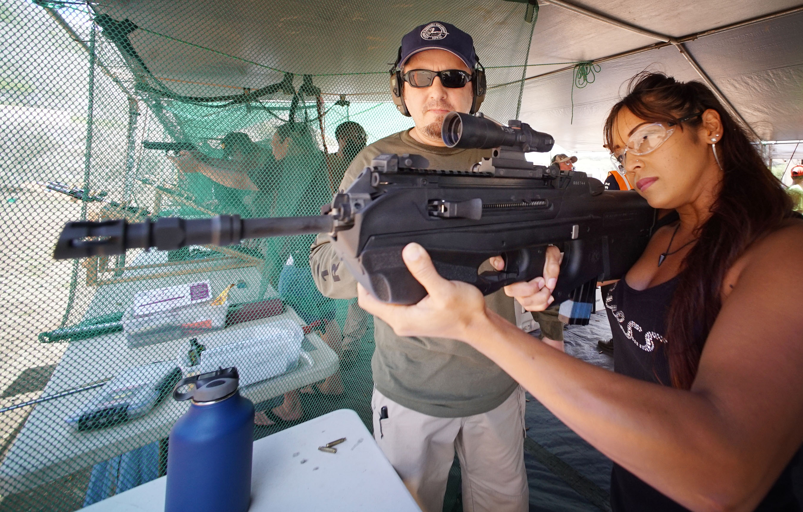 <p>Shara Martinez fired the FN Herstal FS2000 5.56mm rifle during the event, which featured National Rifle Association-certified instructors.</p>