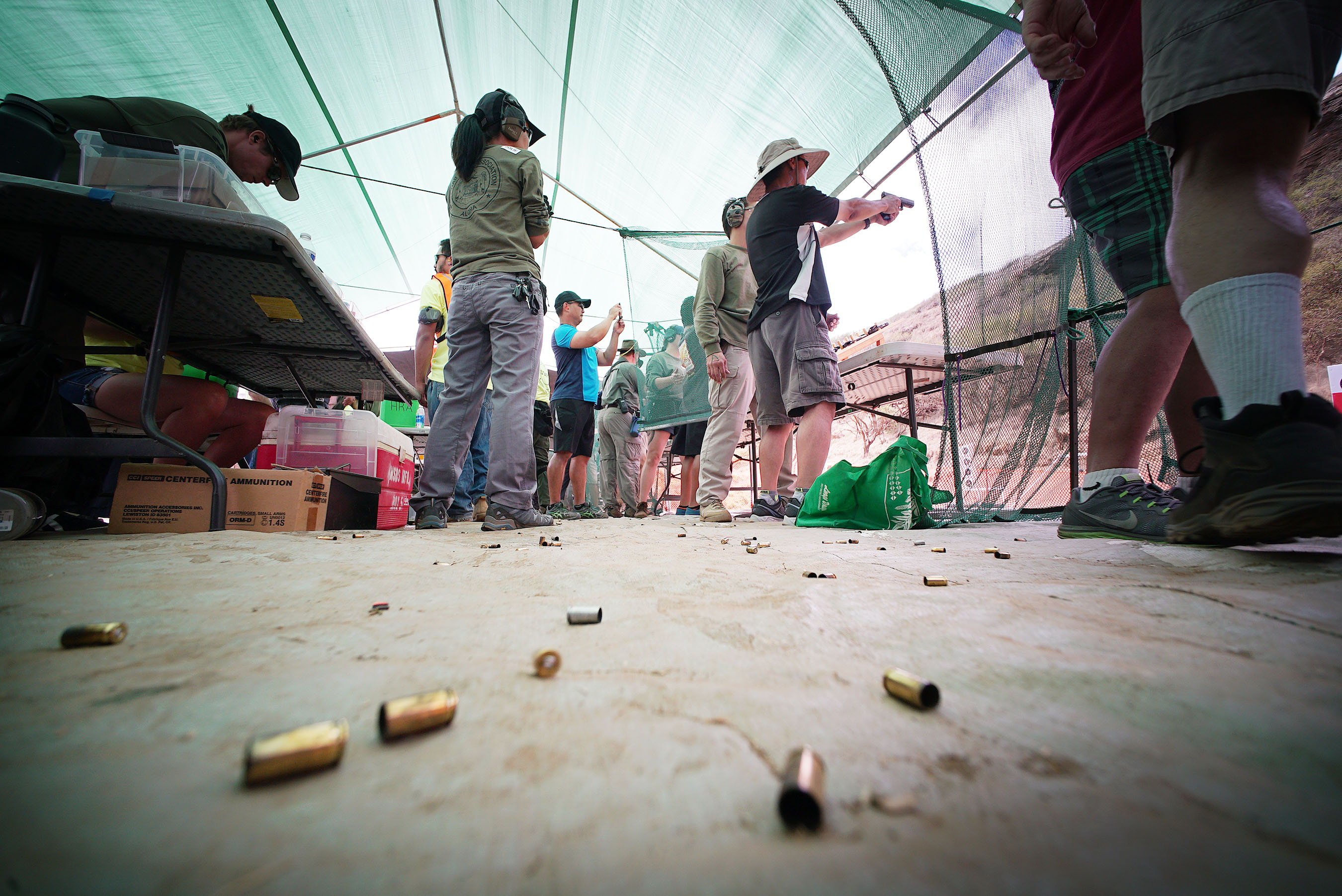 <p>Spent bullet casings littered the ground as visitors fired a variety of weapons.</p>