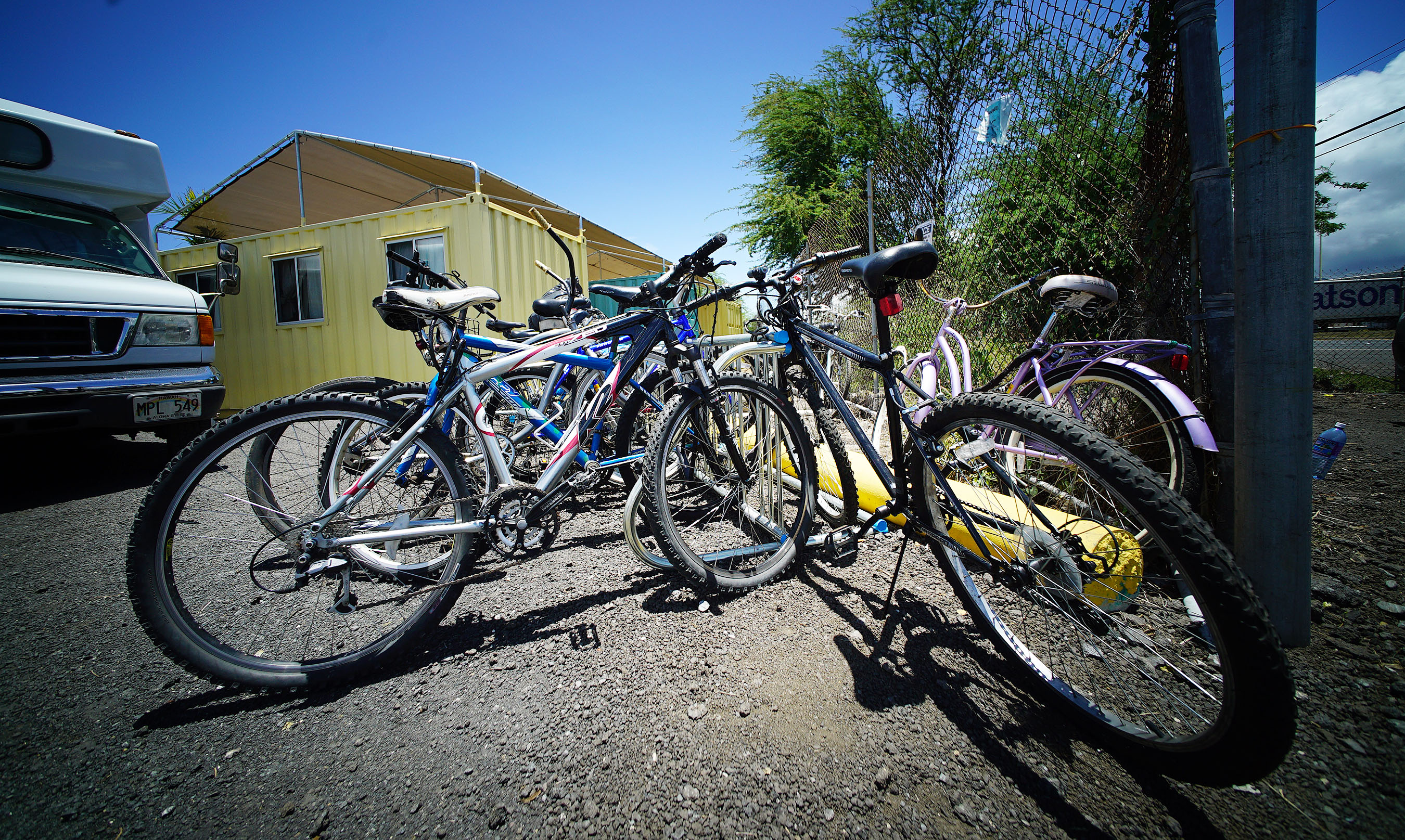 <p>Hale Mauliola residents can bring their bicycles. New amenities include solar charging stations, room lighting and personal storage lockers.</p>