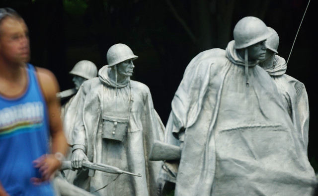 Korean War Memorial washington DC soldier soldiers. 12 june 2016