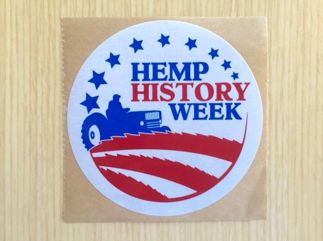 Hemp History Week sticker