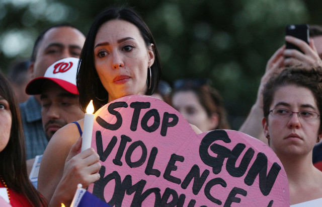 White House Washington DC Orlando shooting demonstration stop gun violence. 13 june 2016