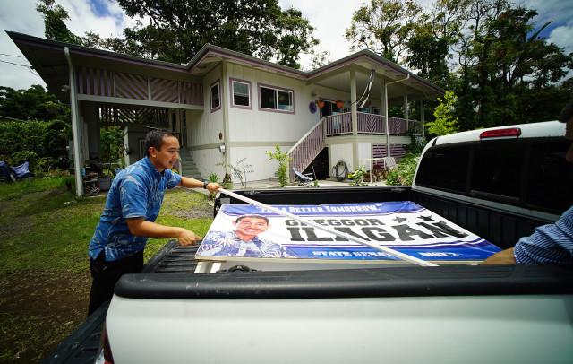 Candidate Greggor Ilagan from Hawaii island. 15 july 2016