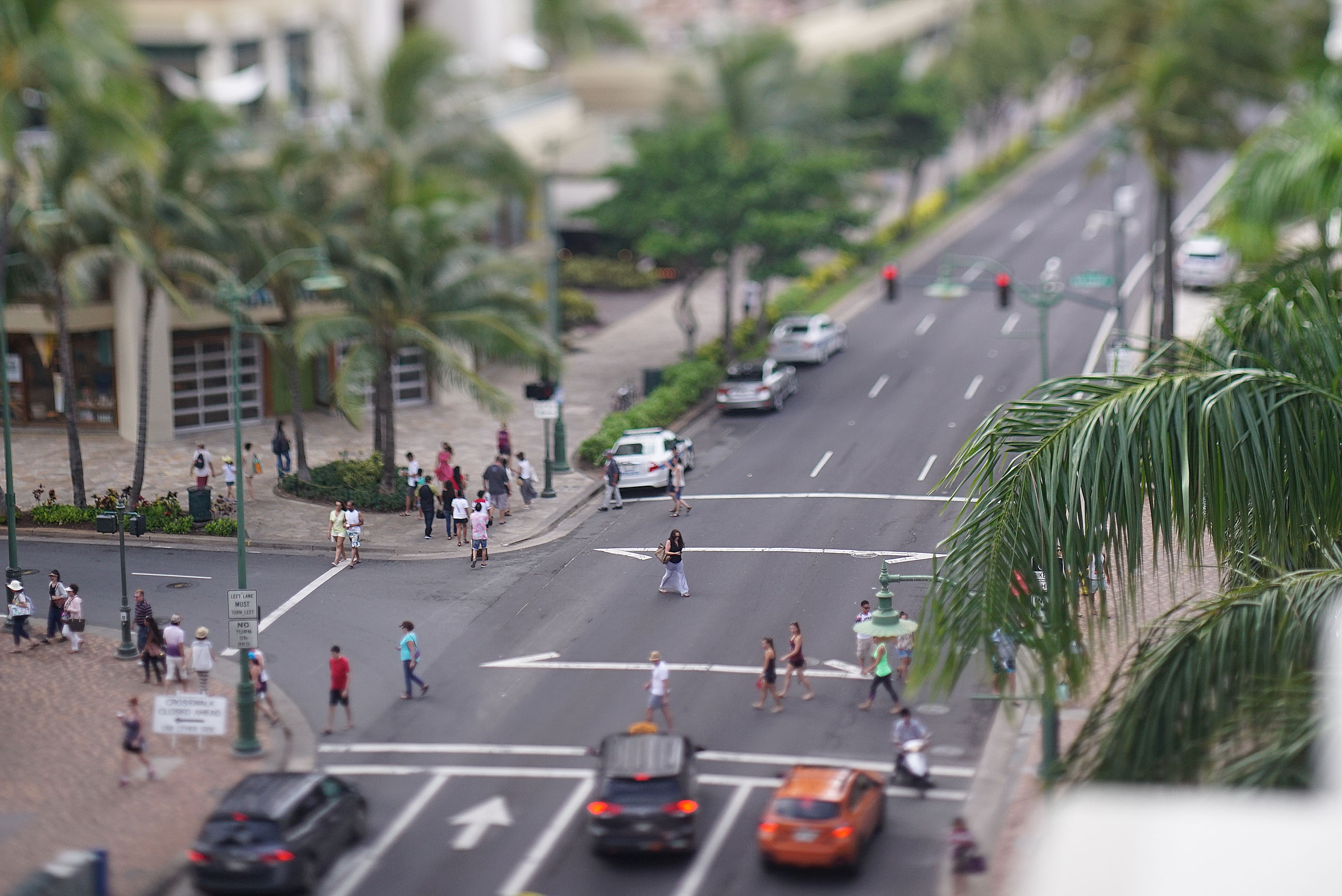 Waikiki Crosswalks Kalakaua Ave Kanekapolei. 31 july 2016