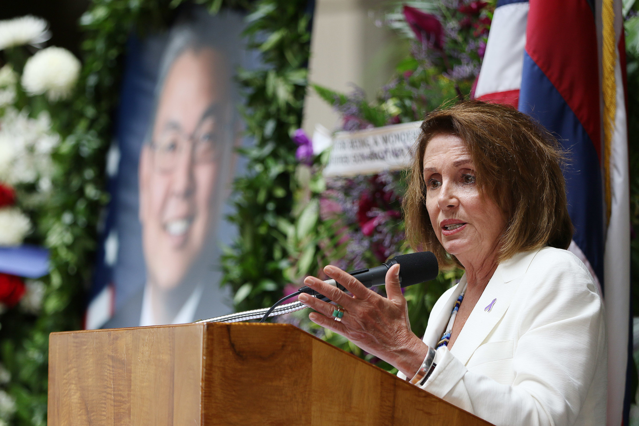 "<p>U.S. House Minority Leader Nancy Pelosi spoke warmly of Takai. ""It was only 18 months since he was sworn in, but he accomplished so much.""</p>"