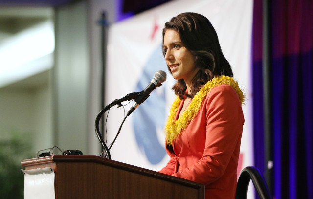 Democratic Unity breakfast Congresswoman Tulsi Gabbard. 14 aug 2016