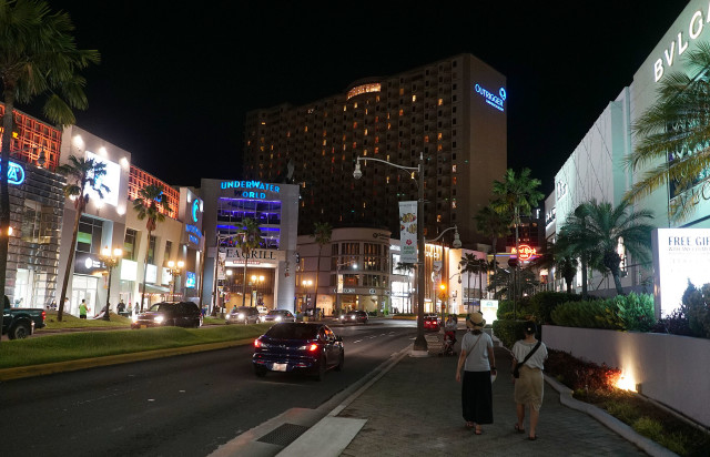 Guam Outrigger Beach Resort and other stores along Pale San Vitores Boulevard. 20 aug 2016