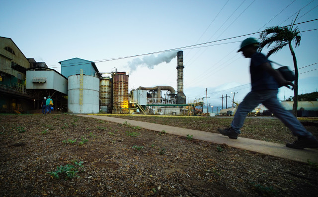 Workers head into work before 6am at the Hawaiian Commercial & Sugar mill located in Puunene, Maui. 4 aug 2016
