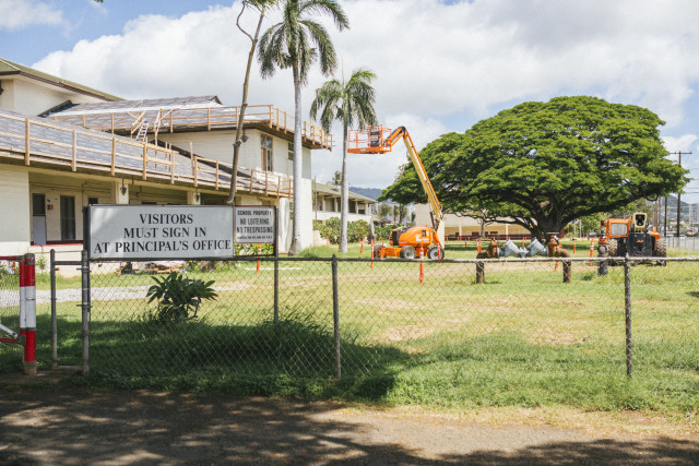 Farrington High School construction.