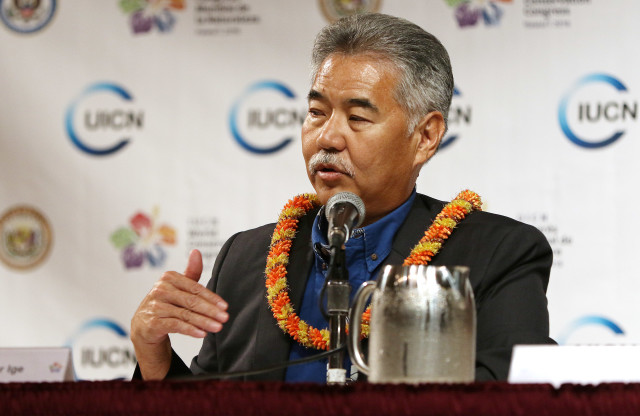 Governor David Ige IUCN presser. 1 sept 2016