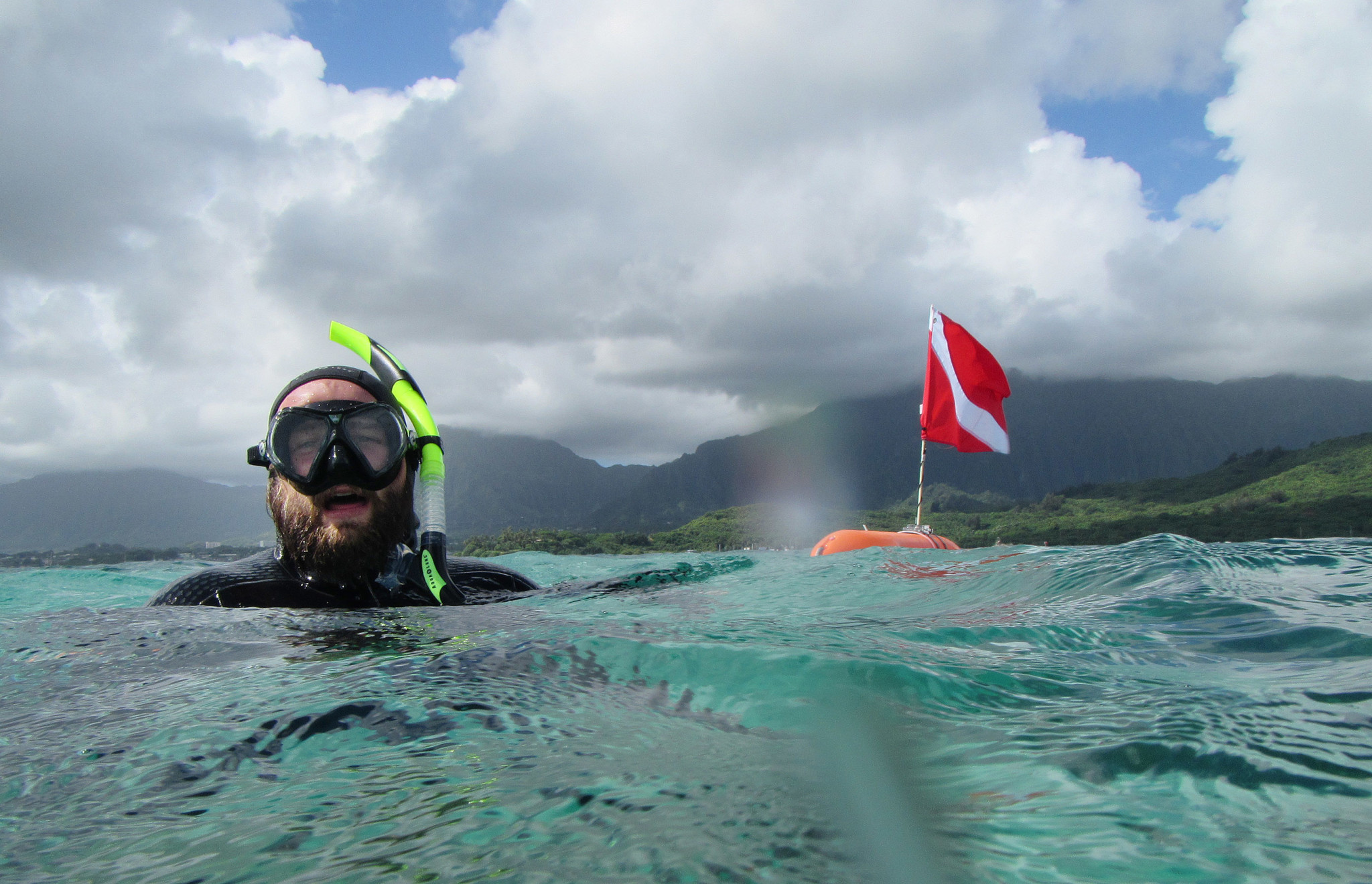 <p>DLNR fishery technician Daniel Lager provided an underwater tour of Kaneohe Bay's coral, which has rebounded despite all the environmental stresses it has suffered from pollution, invasive species and climate change. In fact, scientists now believe the stress has made Kaneohe Bay's coral more resilient to future bleaching.</p>