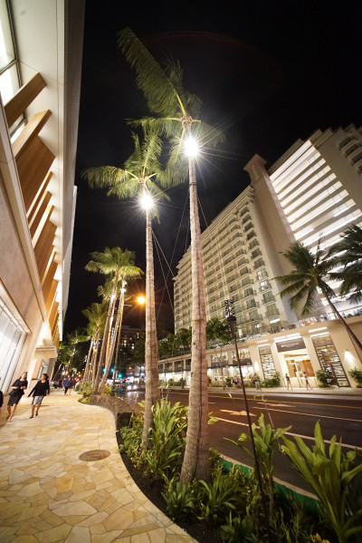LED lights Saks 5th avenue Kuhio Waikiki. 26 sept 2016