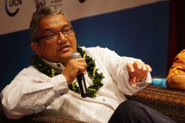 Mayor Hawaii island Billy Kenoi IUCN1. 5 sept 2016