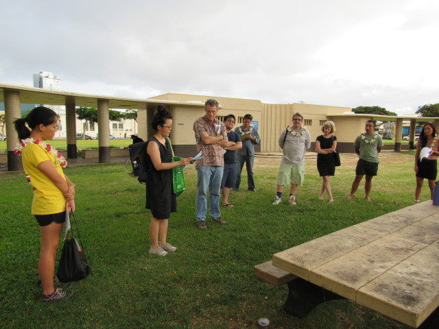 Annie Koh, a member of Kakaako: Our Kuleana, shares history of the Kakaako area.