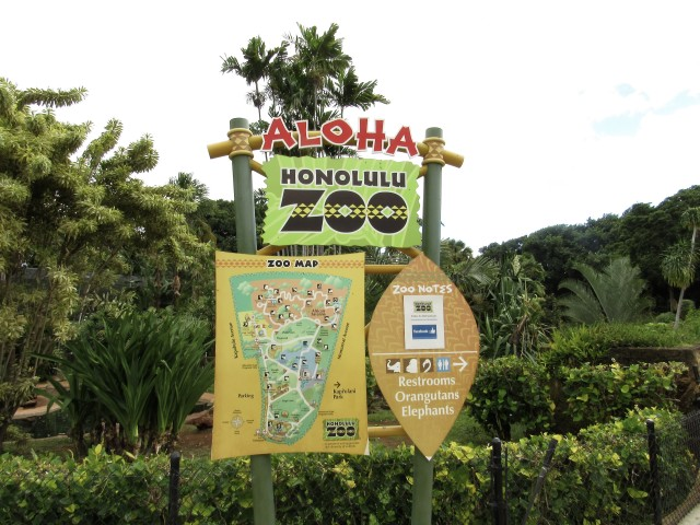 The Honolulu Zoo sits on land that belongs to the Kapiolani Charitable Trust.