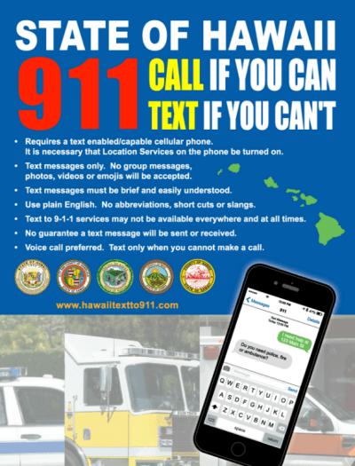 Hawaii's text-as-911 service