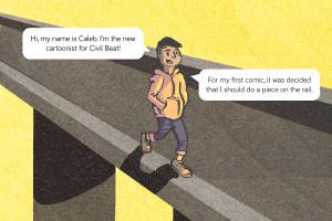 Cartoonist Vs. The Rail