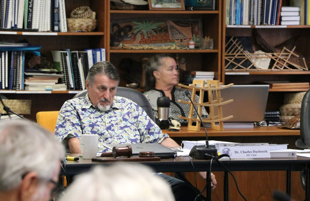 Western Pacific Regional Fishery Management Council's Scientific and Statistical Committee outgoing Chair Charles Daxboeck, of BioDax Consulting Tahiti, at the SSC meeting, Oct. 5, 2016, in Honolulu.
