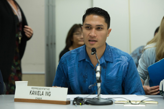State Rep. Kaniela Ing steered a legislative briefing about the working conditions of foreign fishermen aboard Hawaii longline boats.