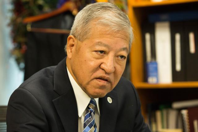 Keith Kaneshiro in his Honolulu office last month.