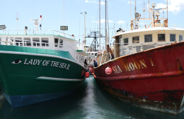 Several hundred foreign crew members work on roughly 140 U.S. longline boats, such as these docked in Honolulu.