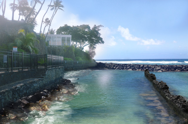 This is a photo conceptualization of what the area would like once the breakwater is revamped.