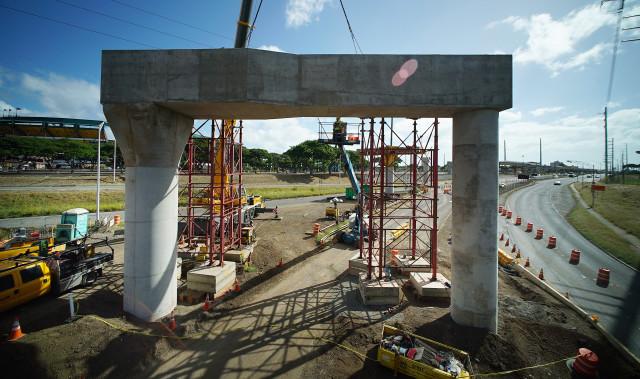 HART Rail guideway near Aiea cemetery. 15 nov 2016