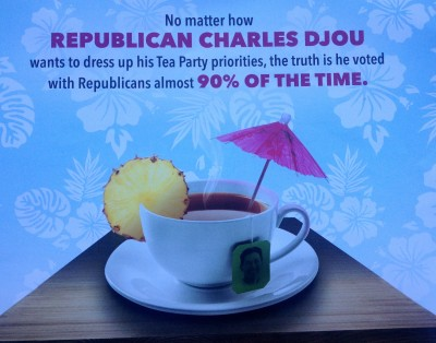 Anti-Djou mailer from Workers for a Better Hawaii.