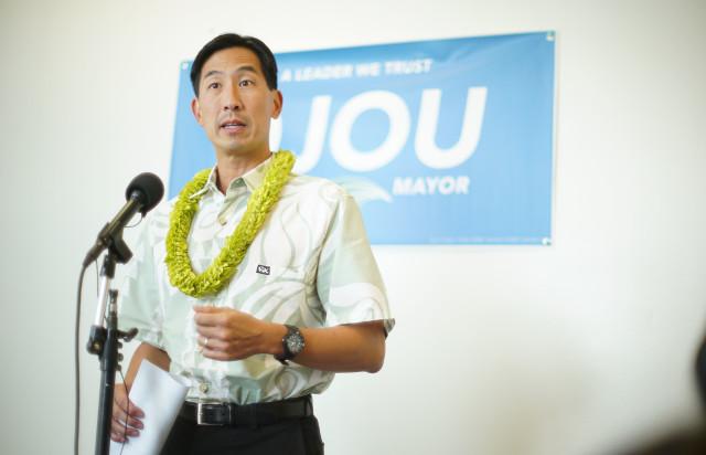 Mayoral Candidate Charles Djou presser held at his campaign headquarters in Kalihi. 1 nov 2016