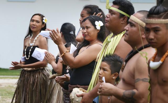 Saipan performers at Tinian Governor proclaimation park. 28 aug 2016