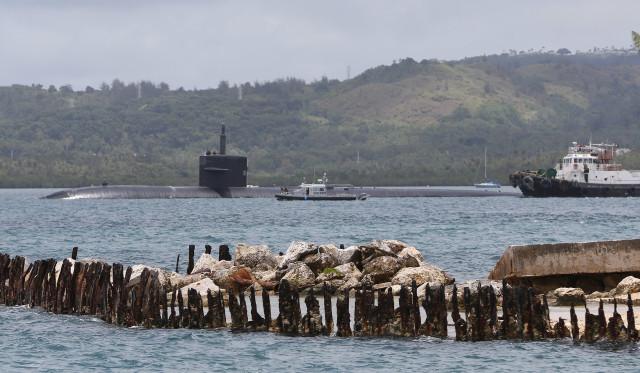 US Navy Base Naval Base Guam submarine Marianas. 23 aug 2016