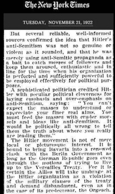 Hitler article